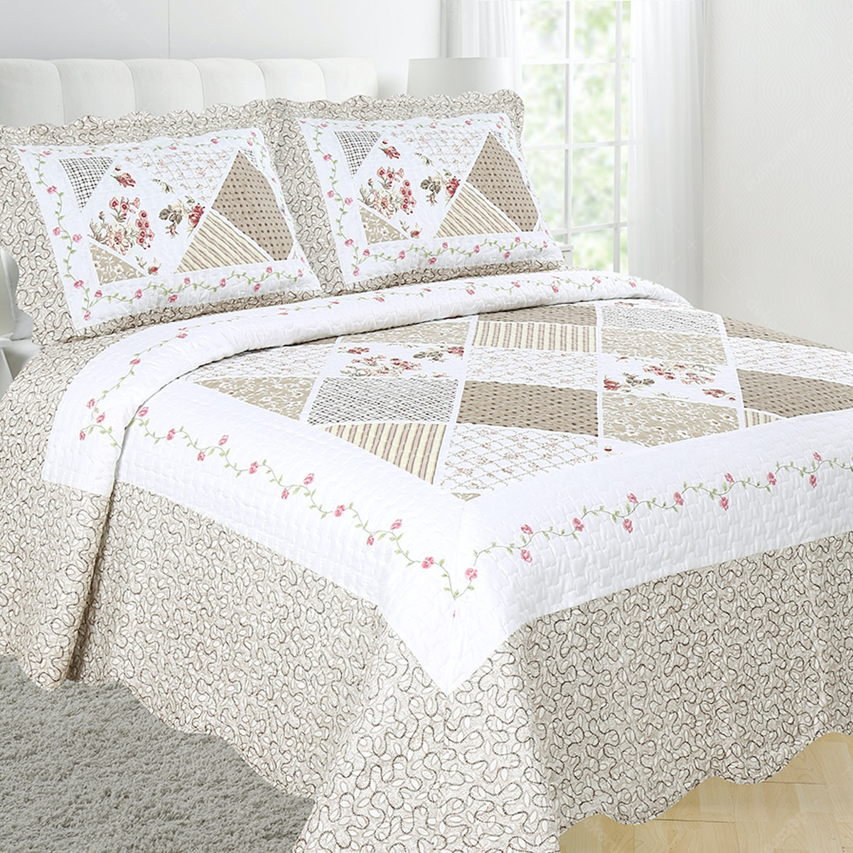 Vintage Story Shabby Bedcover 220X240 P19