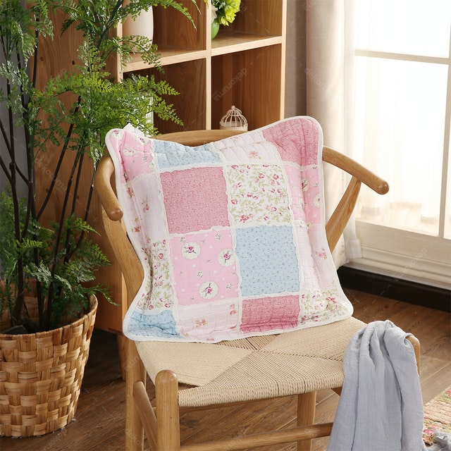 Vintage Story Shabby Cushion Cover 45X45 Patchwork