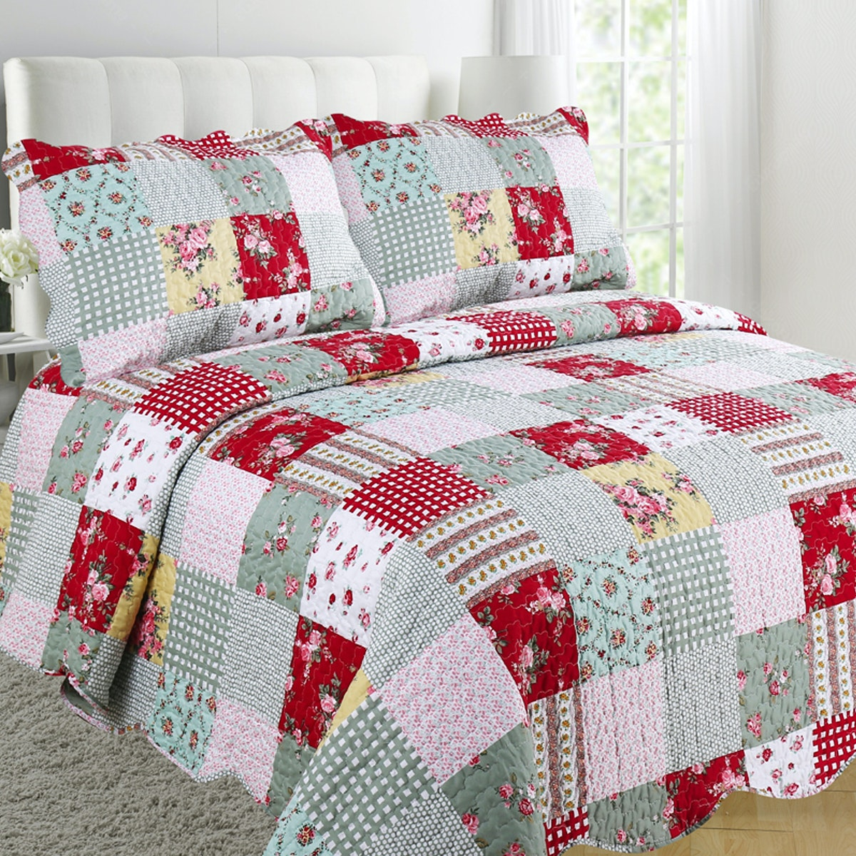 Vintage Story Shabby Bedcover 220X240 A01B220