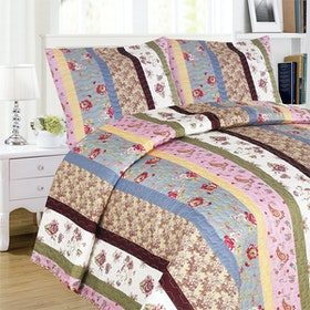 Vintage Story Shabby Bed Cover Set Size Single 150x200 AA1