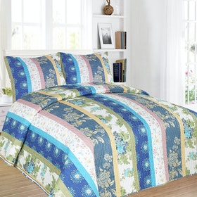 Vintage Story Shabby Bed Cover Set Size Single 150x200 AA3