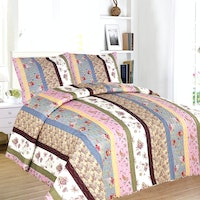 Vintage Story Shabby Bed Cover Set King 220x240cm D1