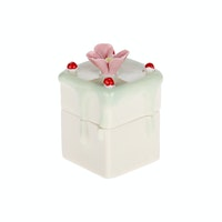 J A R A K Green Cake Trinket Box