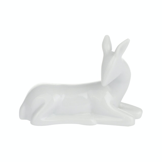 J A R A K White Ceramic Animal