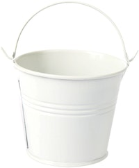 J A R A K White Tin Bucket S