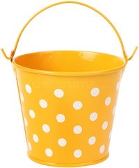J A R A K Orange Polkadot Tin Bucket S