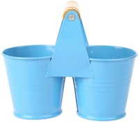 J A R A K Blue Twin Tin Bucket S