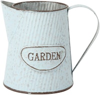 J A R A K Vintage Blue Tin Pitcher