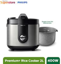 Philips Rice Cooker 2 L - HD3138/33 Silver