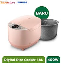 Philips Fuzzy Logic Rice Cooker 1.8 Liter - HD4515/90 - Pink