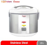 Cosmos Rice Cooker Stainless Steel 2 liter - CRJ9303