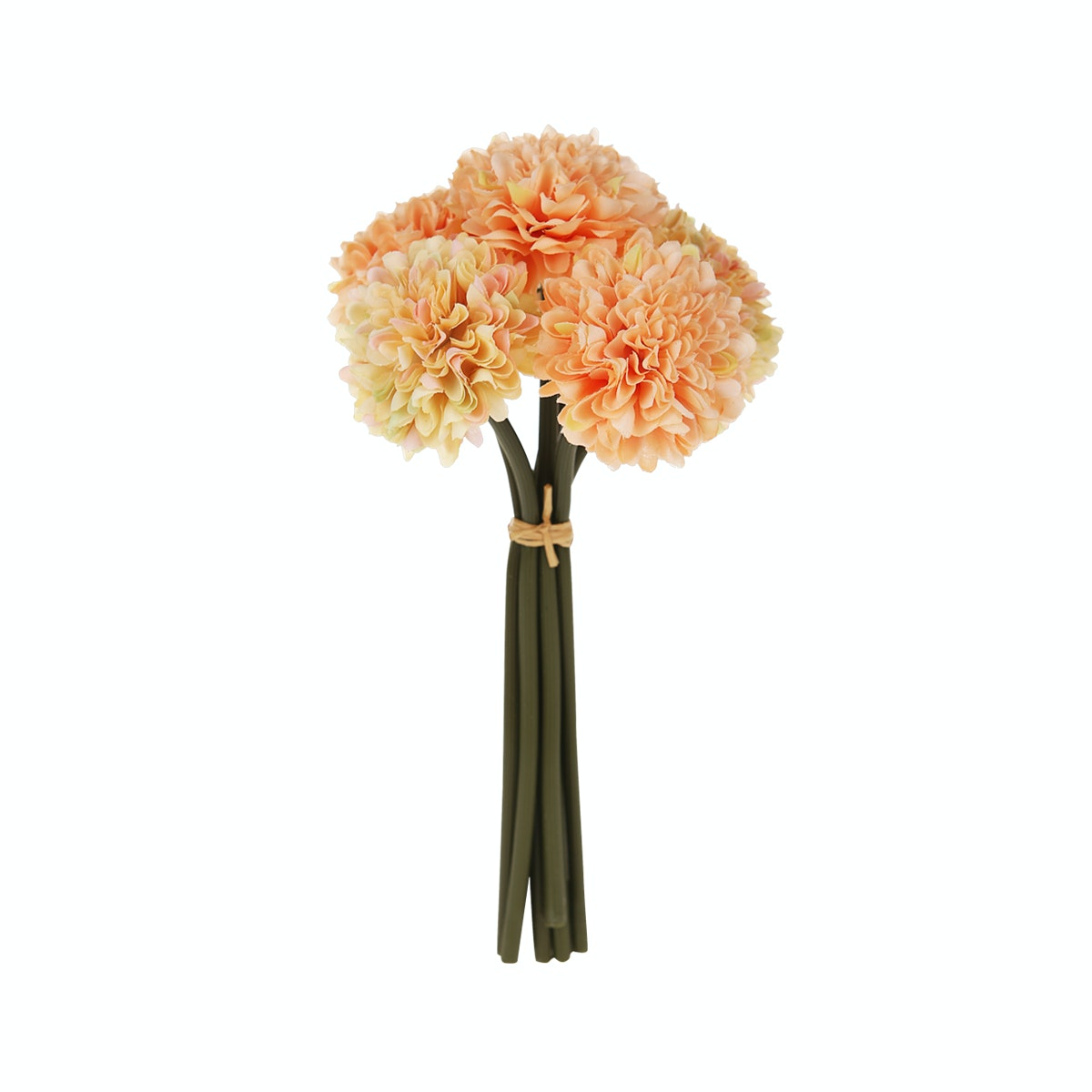 White Lace House Peony Bunch Peach