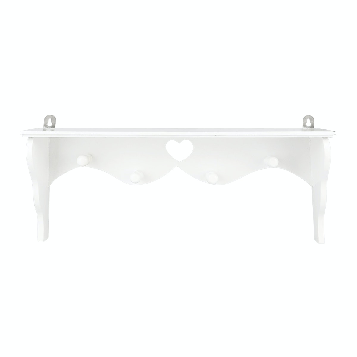 White Lace House Heart Wood Stack White