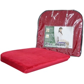 Willow Pillopedic Seat Cushion Memory Foam (Red)