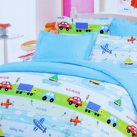 Star Bedcover Motif Travel Time 160x230