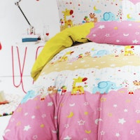 Yukero Sprei Motif Good Night Sweet Dream Pink 180x200x20