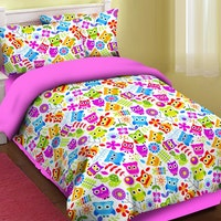 Fortuna Sprei Motif Owl Color 160x200x20