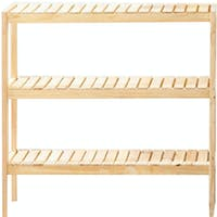 Yuri Ruci Wooden Shelf 80cm 3 Tingkat