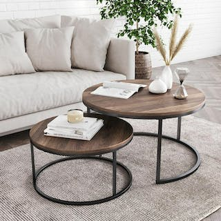 Yuri Fugo Coffee Table Metal Natural Black