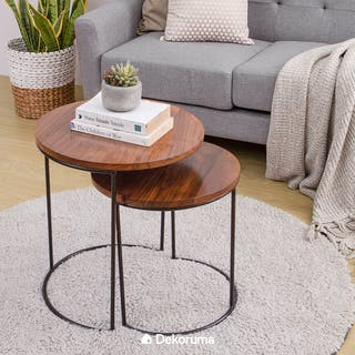 Yuri Coffee Table Set 2 -Meja Tamu Maggie Natural