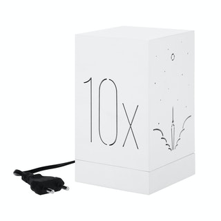 Zeven Lantern Box - 10x / Moonshots - Warm White Lamp