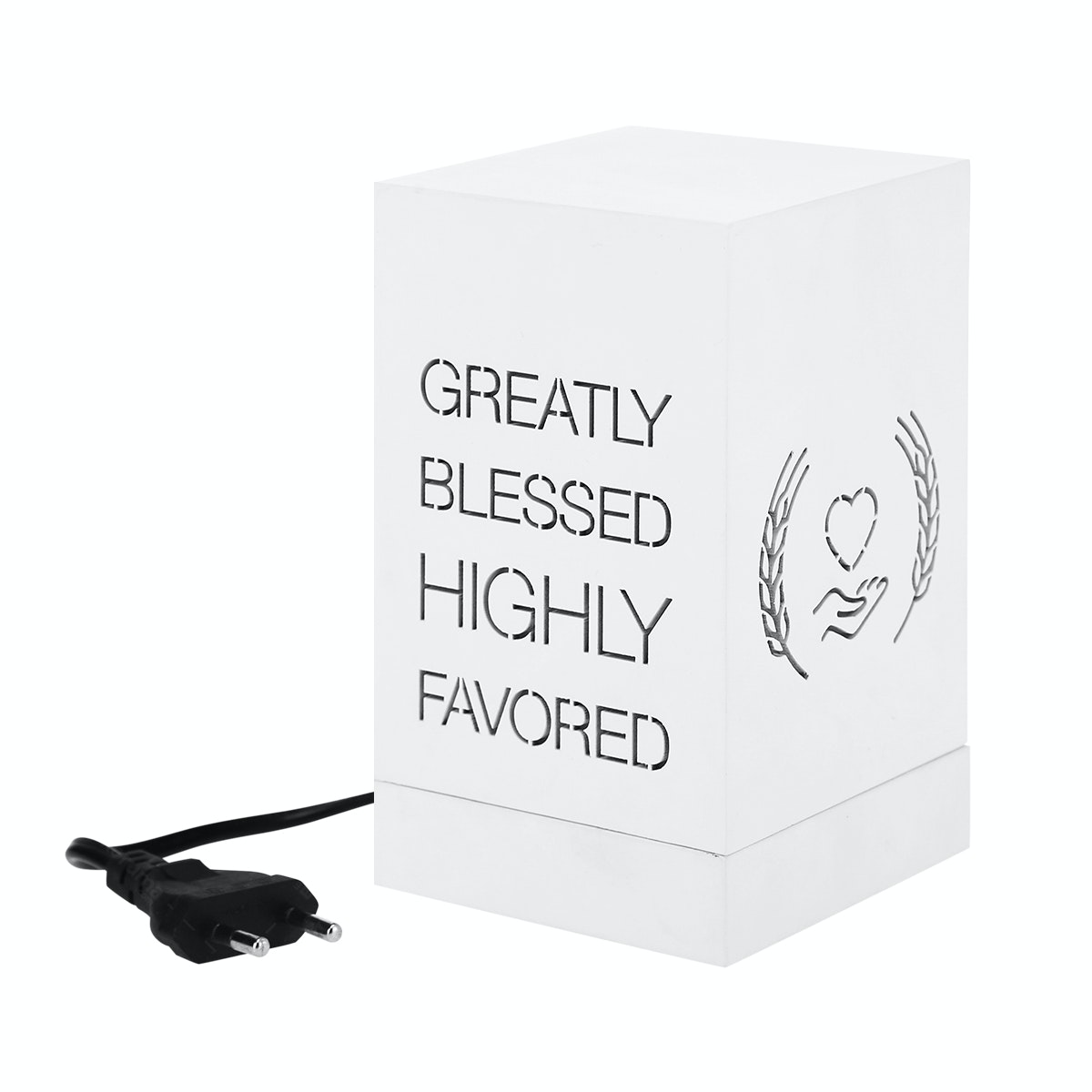 Zeven Lantern Box - Blessed - Warm White Lamp