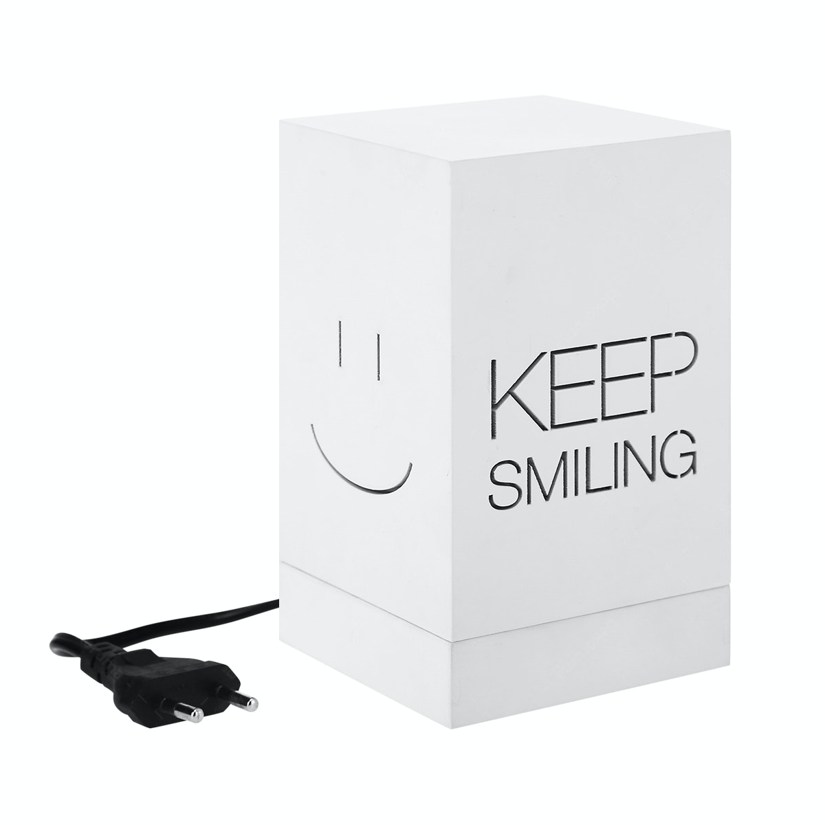 Zeven Lantern Box - Keep Smiling - Warm White Lamp