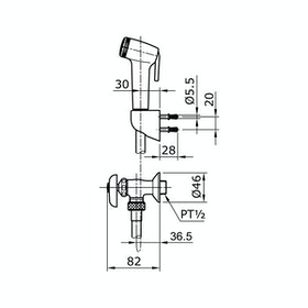 TOTO TX403SB #N5 Shower Spray With Stop Valve